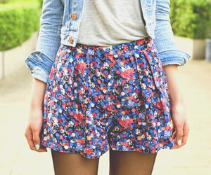 clothers, fashion, and flowers image