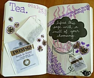 tea, book, and ideas image
