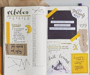 yellow, bullet journal, and journal image