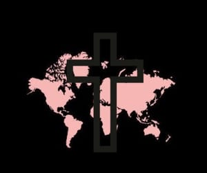 background, black and pink, and cross image