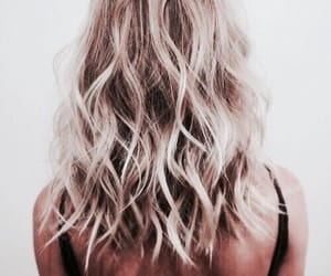 blonde, curly, and dye image