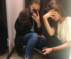 best friends, mirror pics, and friends image
