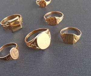 fancy, gold, and rings image
