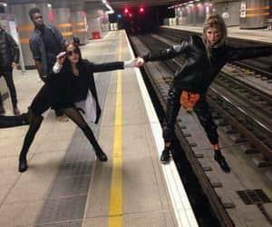 besties, friendship goals, and subway image