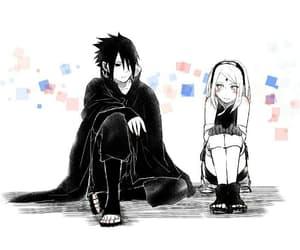 anime, couple, and sasuke image