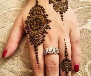 diamond, eid mubarak, and henna image