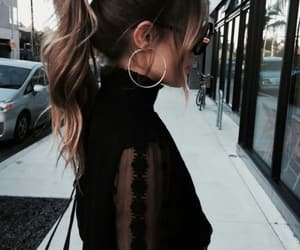 fashion, hair, and ponytail image