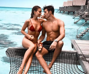 aesthetic, bathing suit, and couple image