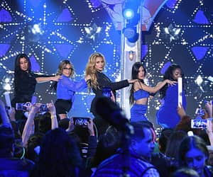 Recording artists Lauren Jauregui Ally Brooke Normani Hamilton Dinah Jane Hansen and Camila Cabello of Fifth Harmony performs at the 2015 Nickelodeon...