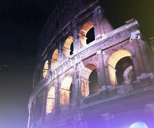 colosseum, night, and polaroid image
