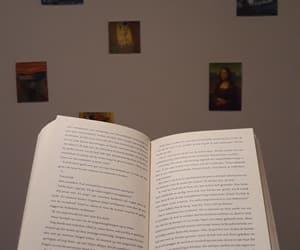art, book, and mona lisa image