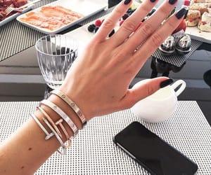 nails, bracelet, and style image