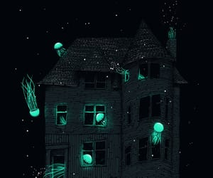 house, art, and jellyfish image