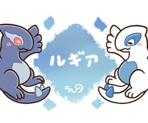 blue, pink, and pokemon image