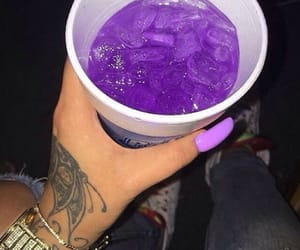 blue, nails, and drink image