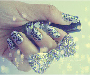 nails, bow, and ring image