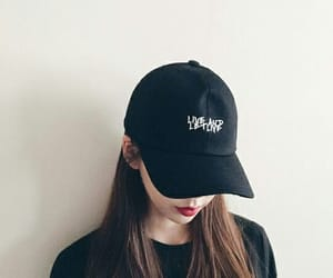 aesthetic, baseball hat, and soft image