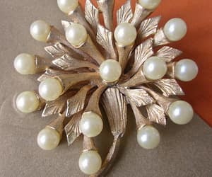 brooch, cluster, and gold tone brooch image