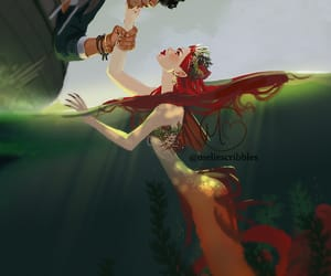 book art, fanart, and mermaid image