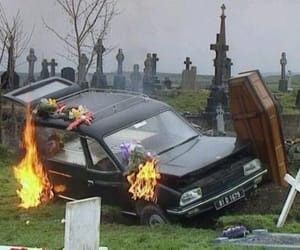 fire, car, and grunge image
