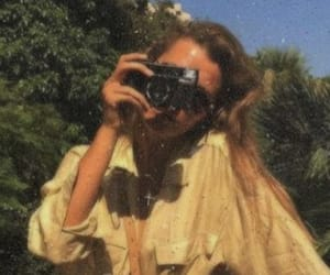 camera, girl, and retro image