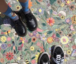 vans, flowers, and paint image