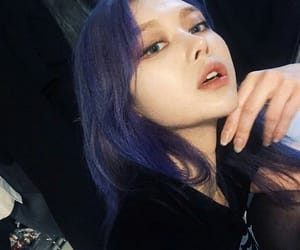 asian, hair, and purple image