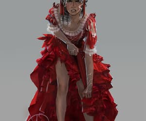 fanart, gif, and red queen image