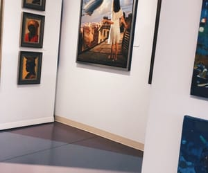 art, gallery, and girl image