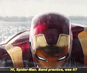 gif, iron man, and Marvel image