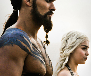 game of thrones, khal drogo, and khaleesi image