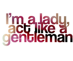 quote, gentleman, and lady image