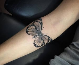 butterfly, tatoos, and pretty image