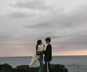 boy, couple, and girl image