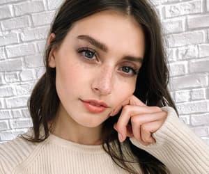 brunette, girl, and beauty image