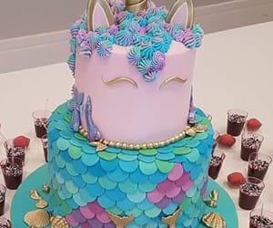 unicorn, cake, and mermaid image