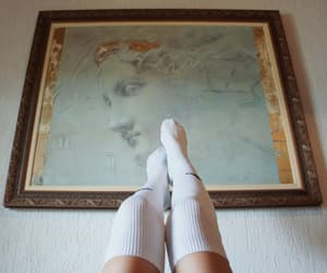 art, meias, and painting image