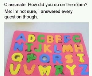 funny, exam, and laugh image