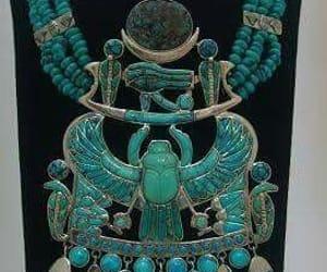 necklace, turqouise, and tutankhem tomb. image