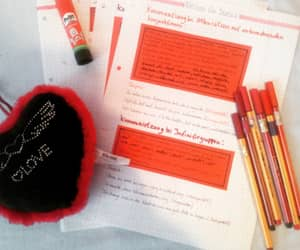 notes, red, and school image