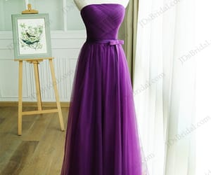 bridesmaid dress, purpledress, and promgown image