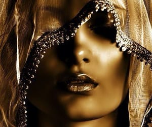 make-up and pure gold. image