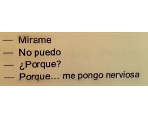 frases, nervios, and mírame image