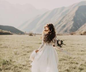 girl, wedding, and white image
