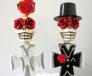 bride and groom, wedding accessory, and day dead wedding image