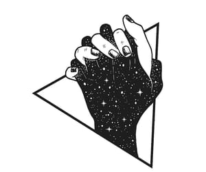 love, hands, and black image