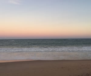 beach and late afternoon image