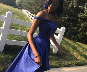 royal blue, promdress, and off-the-shoulder image