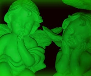 glow, neon, and green image