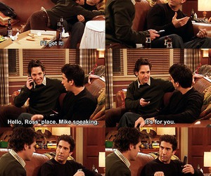 funny, f.r.i.e.n.d.s, and mike image